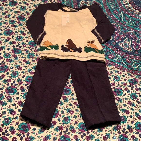 New Baby Boys GOOD LAD 3-Piece Holiday Christmas Train Sweater Vest Set 12 18 MO